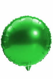 "Green 18"" Round Mylar Balloon - click to enlarge"