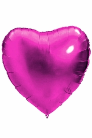 "Hot Pink 18"" Heart Mylar Balloon - click to enlarge"