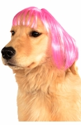 Hot Pink Short Bob Wig for Pets