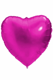 "Large Pink 36"" Heart Mylar Balloon - click to enlarge"