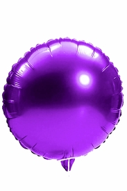 "Purple 18"" Round Mylar Balloon - click to enlarge"