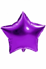 "Purple 18"" Star Mylar Balloon - click to enlarge"