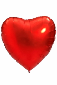 """Red 18"""" Heart Mylar Balloon - click to enlarge"""