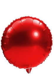 "Red 18"" Round Mylar Balloon - click to enlarge"