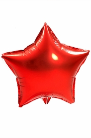 "Red 18"" Star Mylar Balloon - click to enlarge"