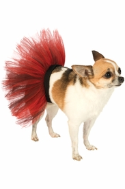 Red and Black Pet Tutu - click to enlarge
