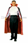 Red and Black Reversible Cape with Collar