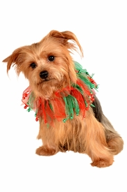 Red and Green Jingle Bells Pet Collar - click to enlarge