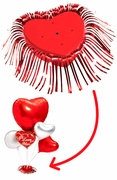 Red Heart-Shaped Balloon Centerpiece Base
