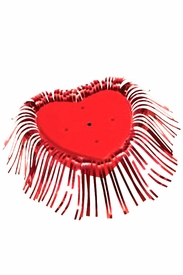 Red Heart-Shaped Balloon Centerpiece Base - click to enlarge