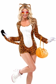 Sexy Cheeky Cheetah Womens Adult Costume - click to enlarge
