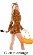 Sexy Cheeky Cheetah Womens Adult Costume - Alternate View - click to Enlarge