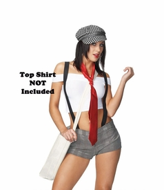 Sexy Newspaper Girl Costume - click to enlarge