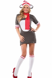 Sexy Sock Monkey Womens Adult Costume - click to enlarge