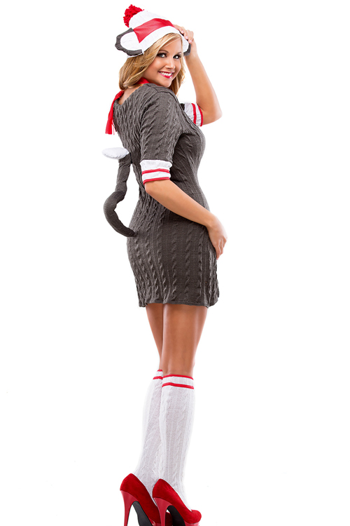 sc 1 st  AnythingCostumes.com & Sexy Sock Monkey Womens Adult Costume