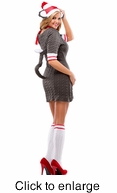 Sexy Sock Monkey Womens Adult Costume - Alternate View - click to Enlarge