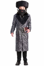 Silver Rabbi Robe Child Costume - click to enlarge