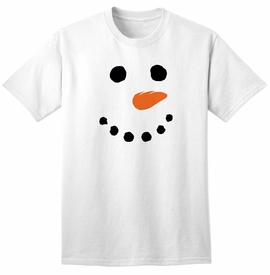 Snowman Face T-shirt - click to enlarge