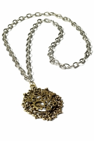 Steampunk Bronze Gear Necklace - click to enlarge