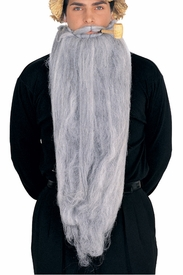 Super Long Gray Beard and Mustache Combo - click to enlarge