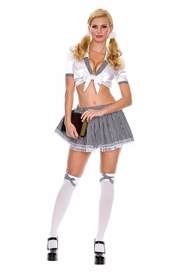 Top School Girl Outfit by Music Legs - Clearance - click to enlarge