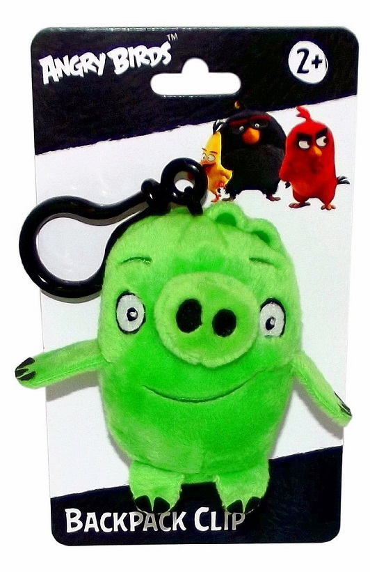 Angry Birds - Plush Figure w/ Clip - Green Pig (3 inch)