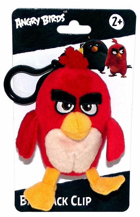 Angry Birds - Plush Figure w/ Clip - Red Bird (3 inch)