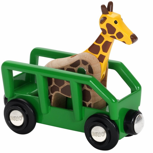 BRIO Railway - Safari Giraffe and Wagon