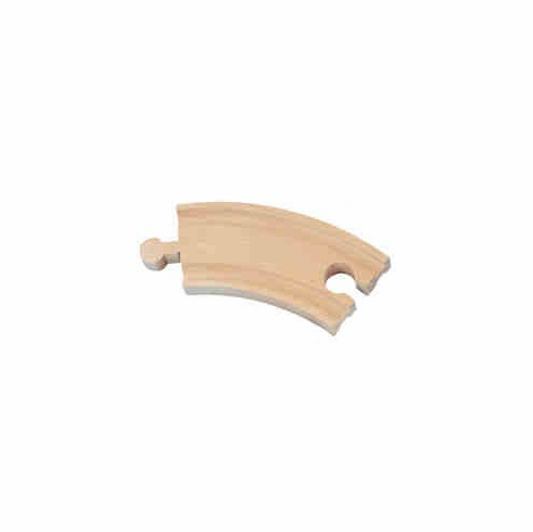 Bulk Wood Train Track - 3.5 Inch Curved Track (1 piece)