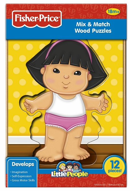 Fisher Price - Little People - Mix & Match - Wood Puzzle - Sonya Lee (Girl)
