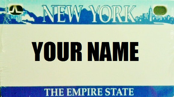 Kid License Plate - New York