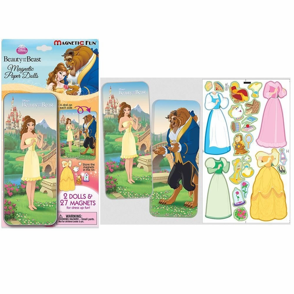 Magnetic Doll Set - Beauty and the Beast with Storage Tin