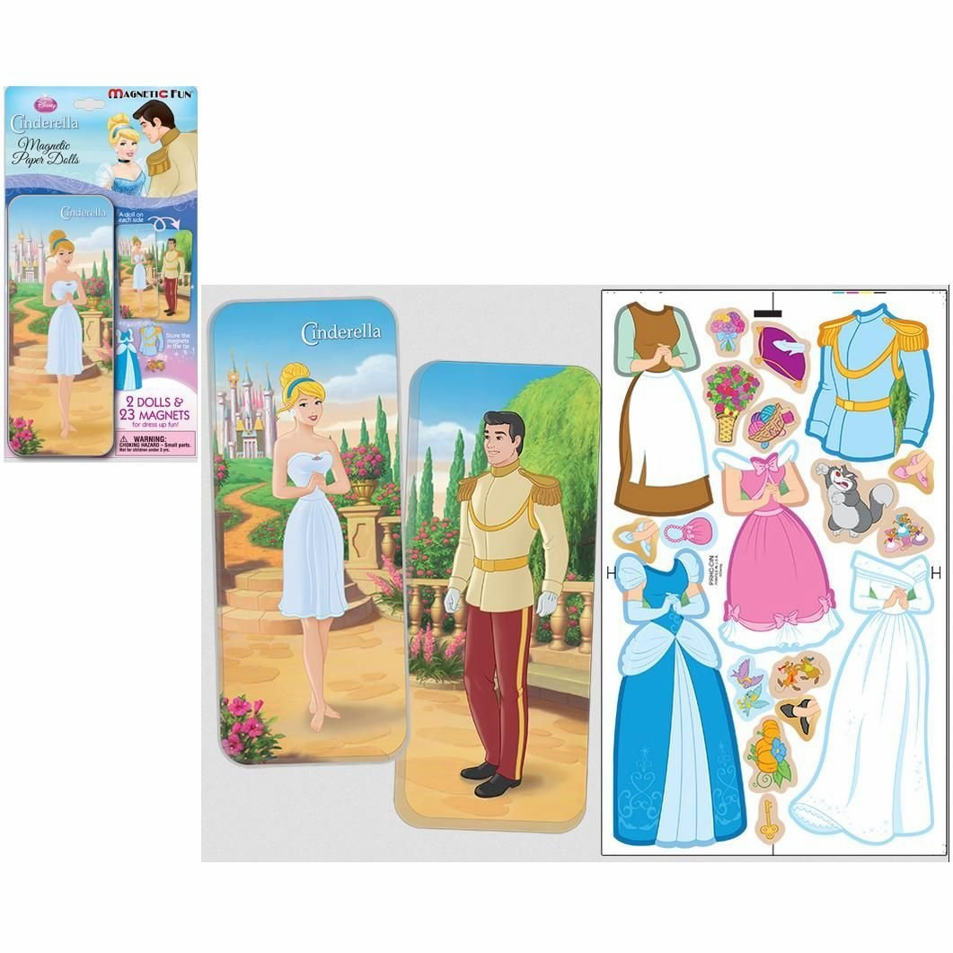 Magnetic Doll Set - Cinderella with Storage Tin