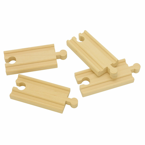 "Maxim Railway - 3"" Straight Track 4 Piece - Brio Compatible"