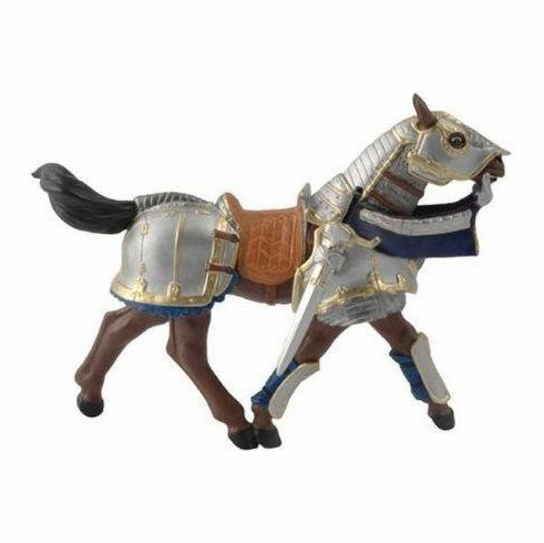Papo - Armored Horse - Blue