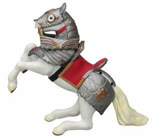 Papo - Armored Reared up Horse - Red