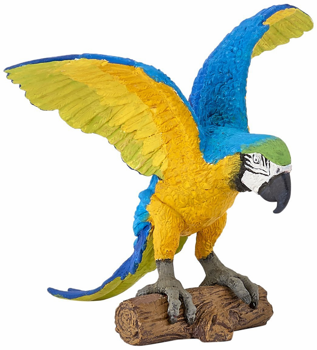 Papo - Blue and Yellow Macaw Parrot