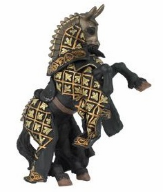 Papo - Bull Knight Horse - Black and Gold