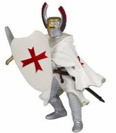 Papo - Crusader With Red Helmet