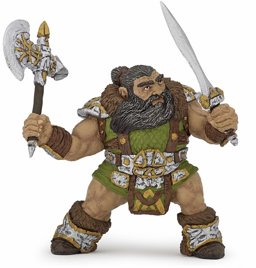 Papo - Dwarf Warrior with Axe