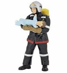 Papo - Fireman with Baby