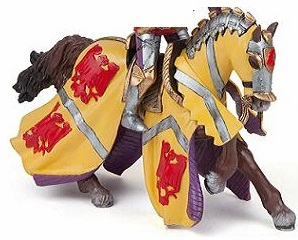 Papo - Horse of Godefroy at Tournament - Red
