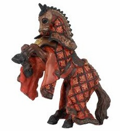 Papo - King of Knights Horse - Red