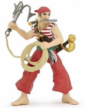 Papo - Pirate with Grapnel - RED