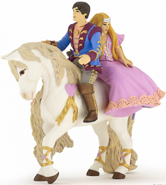Papo - Prince and Princess on Horse - Retired