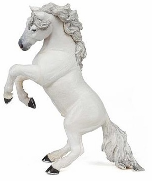 Papo - Reared Up Horse - White - New Style