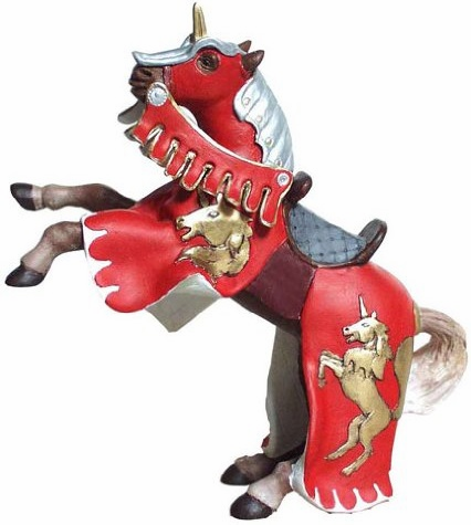 Papo - Reared Up Horse with Unicorn - Red