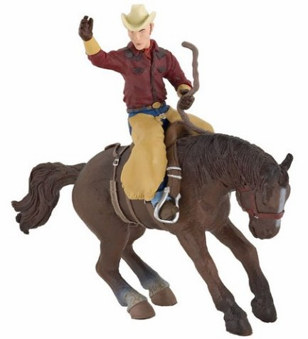 Papo - Rodeo Horse and Rider - Retired