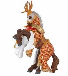Papo - Stag Knight Horse - Red