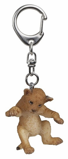 Papo - Young Lion On Back Keychain